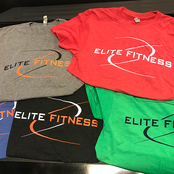 Elite Fitness, Tyler Gym, Tyler Fitness Center, Elite Fitness Tshirts Flat Lay Group, Work Out Clothing, Work out Clothes, Gym Clothes